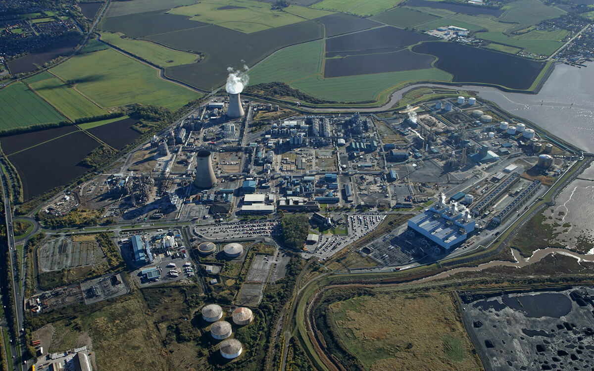 px Group Saltend Chemicals Park Birds Eye View