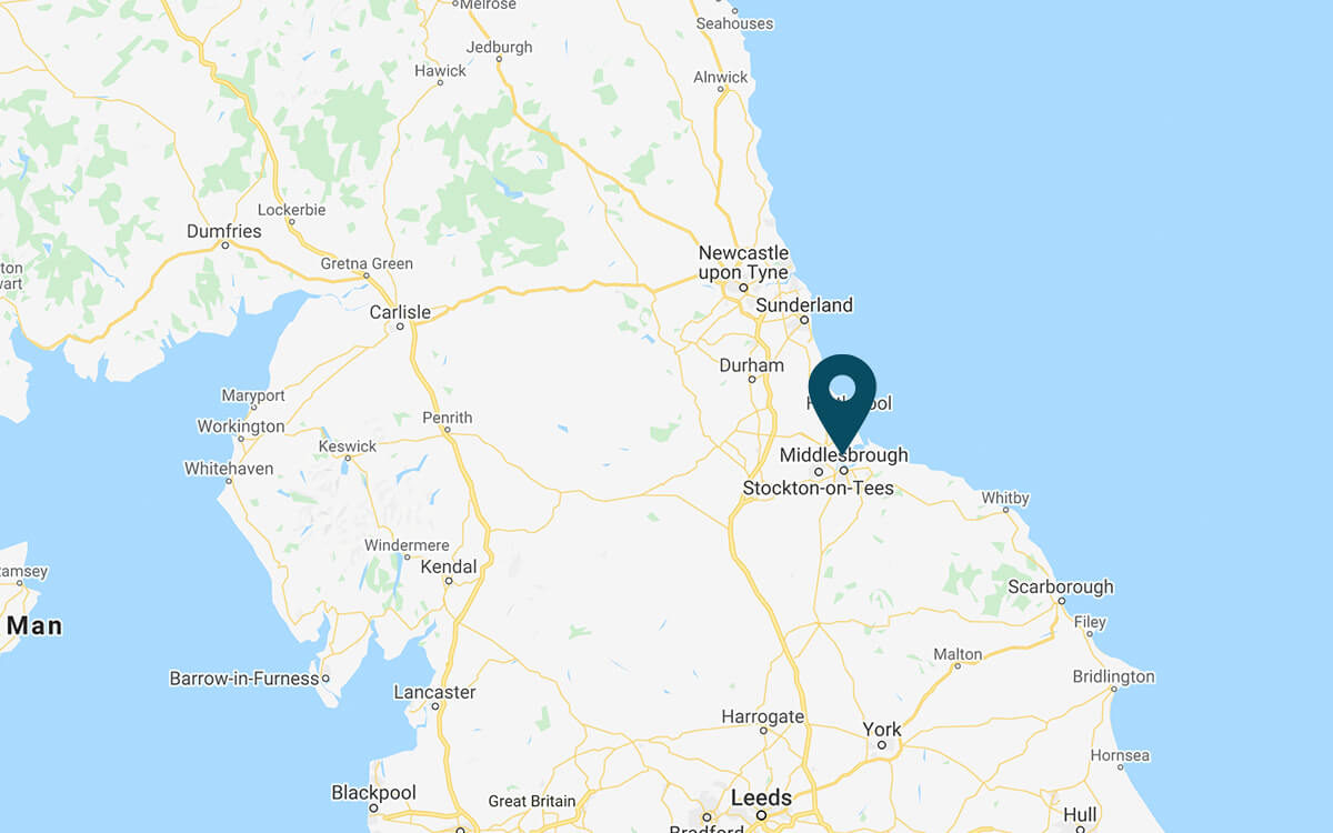 px Group Teeside Gas Processing Plant Map